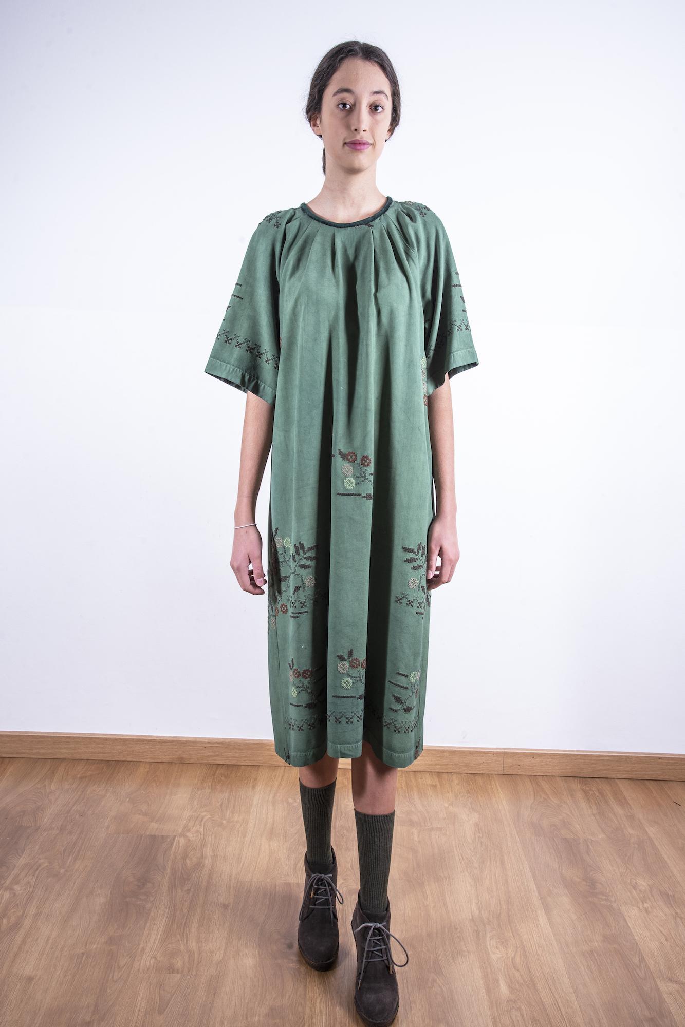 Deep green oversized dress